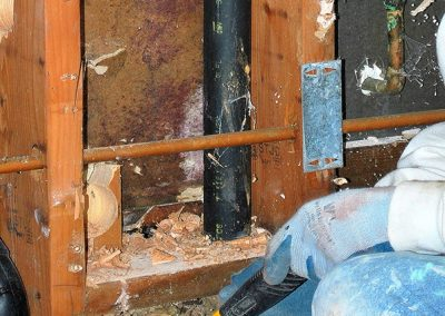 water-mold-damage-behind-drywall